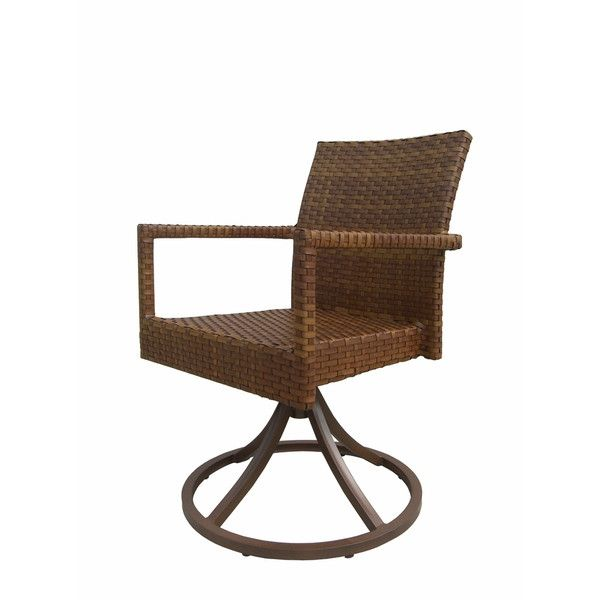 Panama Jack Outdoor St Barths Swivel Dining Chairs, Set of 2