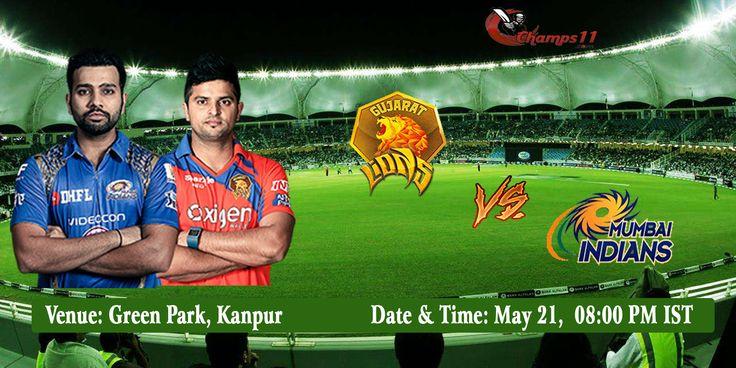 IPL 2016: The Gujarat Lions Vs Mumbai Indians  #GLvMI #MIvGL #VIVOIPL #IPL #IPL2016