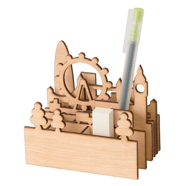 cityscape pen stand