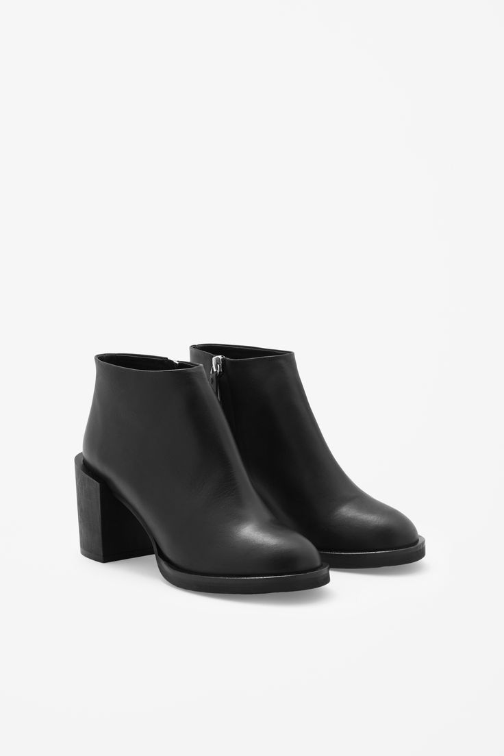 block heel leather boots from COS