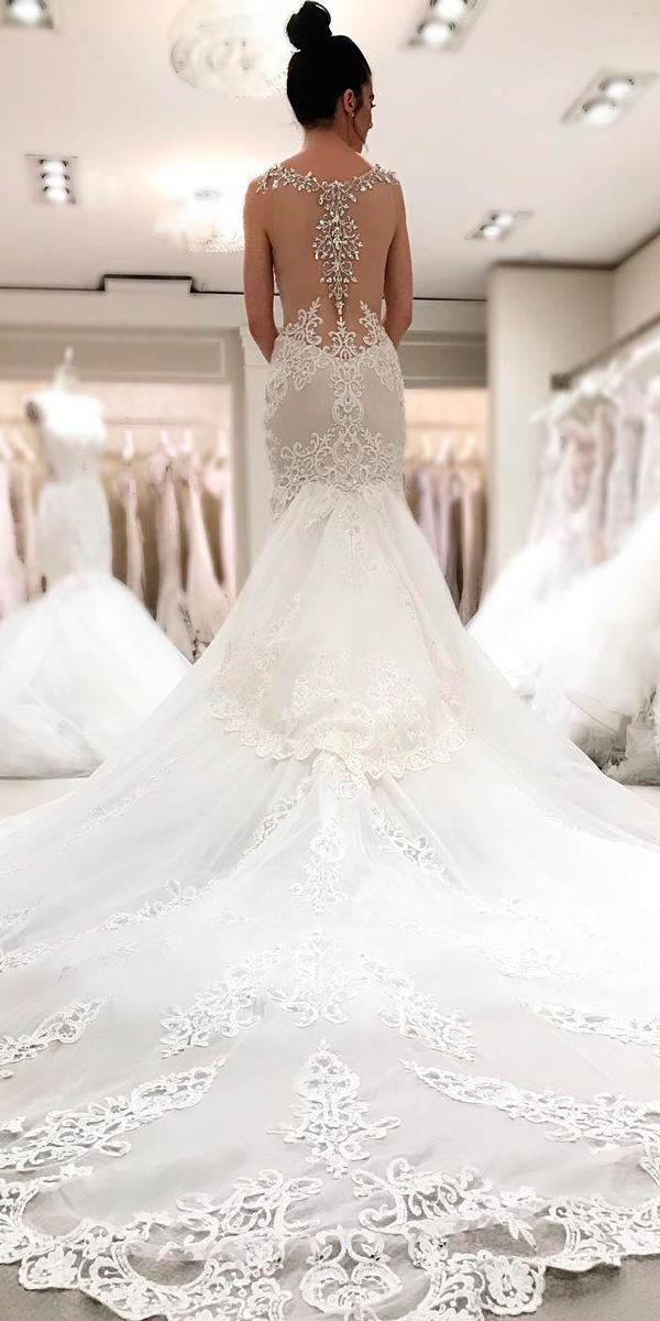 30 Beautiful Wedding Dresses By Top USA Designers ❤ beautiful wedding dresses mermaid lace original backless sleeveless with train pnina tornai ❤ See more: http://www.weddingforward.com/beautiful-wedding-dresses/ #weddingforward #wedding #bride