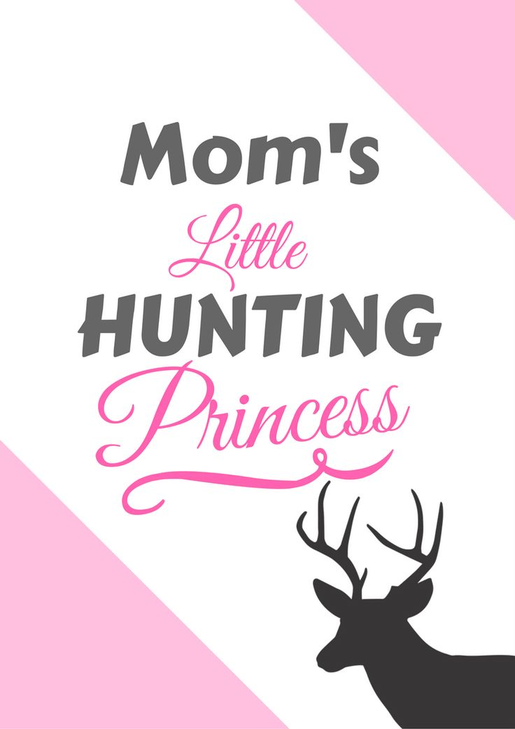 Hunting gifts for kids!  Mom's little hunting princess
