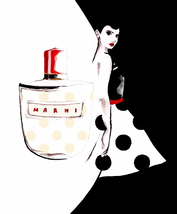 My illustration for Marni Fragrance