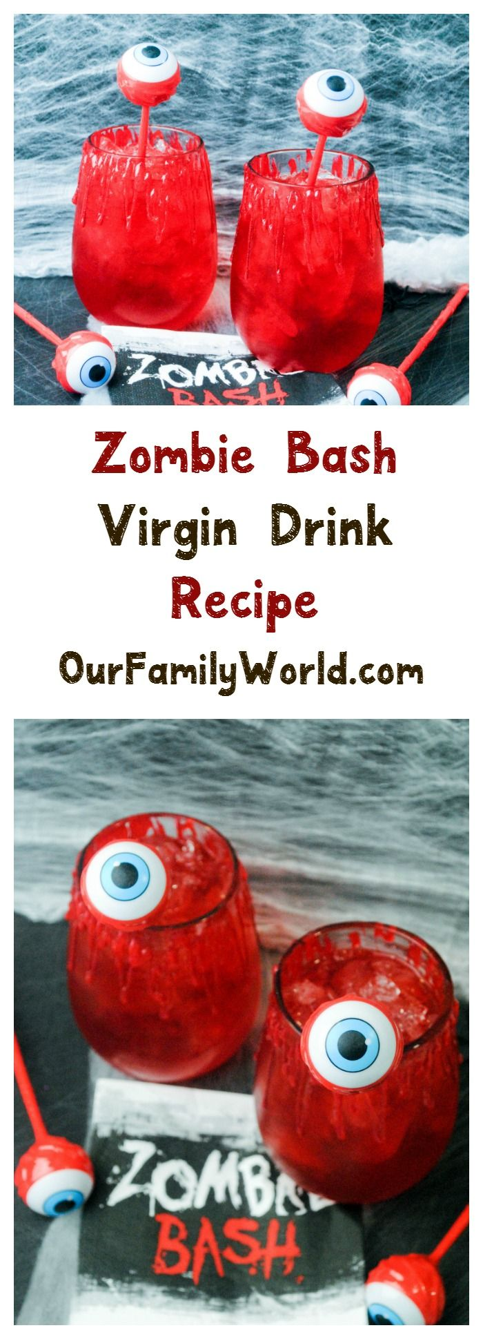 Looking for great Halloween drinks? Check out this yummy non alcoholic drink that's just perfect for your Monster party!