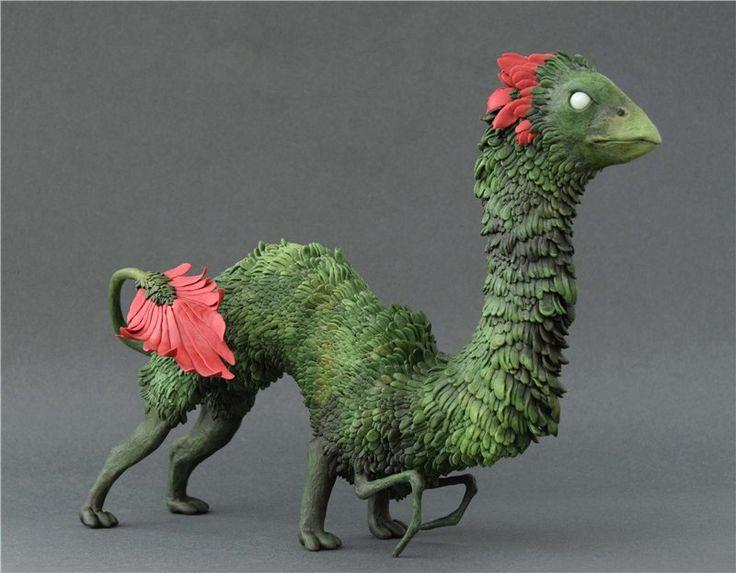 Зелёная гусеница - птица II / Авторские и коллекционные игрушки / Шопик. Продать купить куклу / Бэйбики. Куклы фото. Одежда для кукол