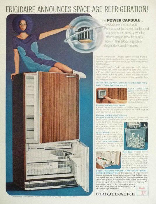 "1966 Frigidaire Refrigerator Ad ""Space Age"""