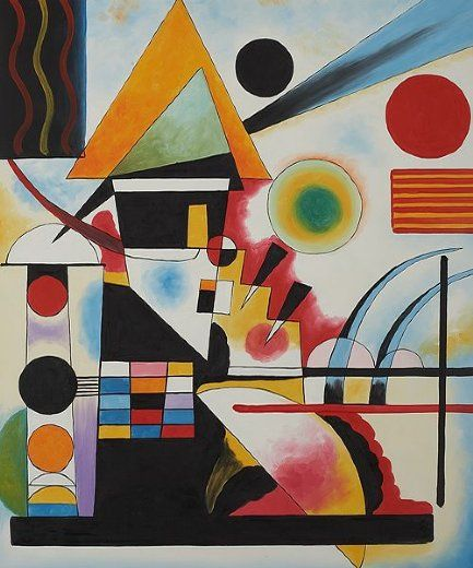 Wassily kandinsky - Another version with slight color variations~~~~~