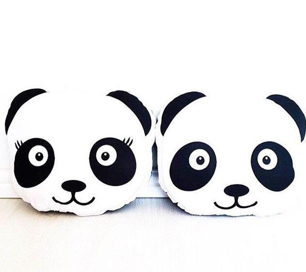 Girl Panda Pillow
