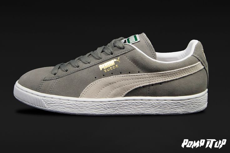 Puma Suede Classic (Steeple gray-white) For Men  Sizes: from 40 to 46 EUR Price: CHF 90.- #‎Puma‬ ‪#‎SuedeClassic‬ ‪#‎PumaSuedeClassic‬ ‪#‎Sneakers‬ ‪#‎SneakersAddict‬ ‪#‎PompItUp‬ ‪#‎PompItUpShop‬ ‪#‎PompItUpCommunity‬ ‪#‎Switzerland‬