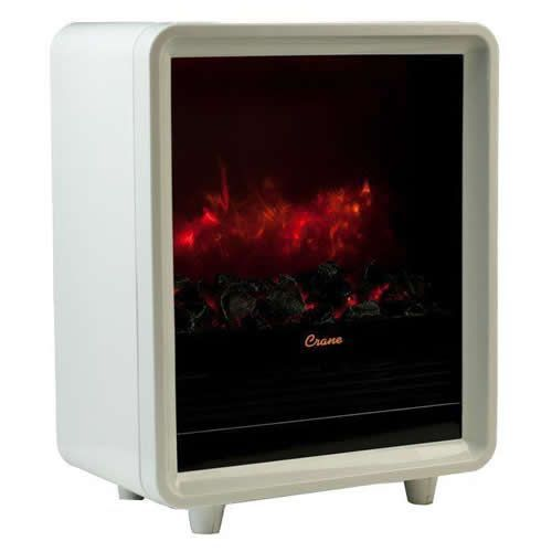 Crane Fireplace Space Heater - White