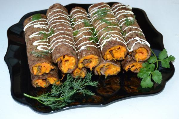 Блинчики из куриной печени с начинкой http://citywomancafe.com/cooking/14/10/2015/blinchiki-iz-kurinoy-pecheni-s-nachinkoy