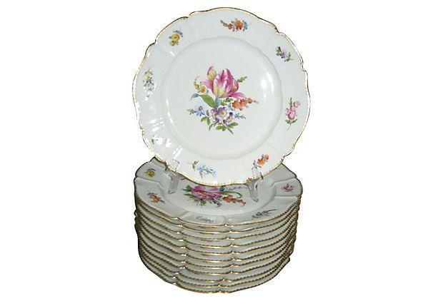 Nymphenburg Dinner Plates, S/12 on OneKingsLane.com