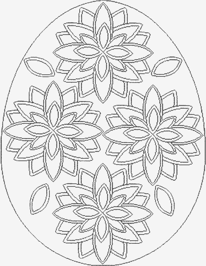 easter eggs coloring pages part 2