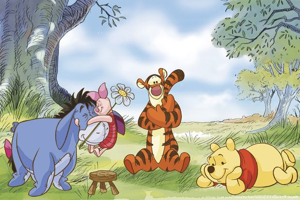 Winnie the Pooh - Summer Day -             Fototapeter & Tapeter -           Photowall