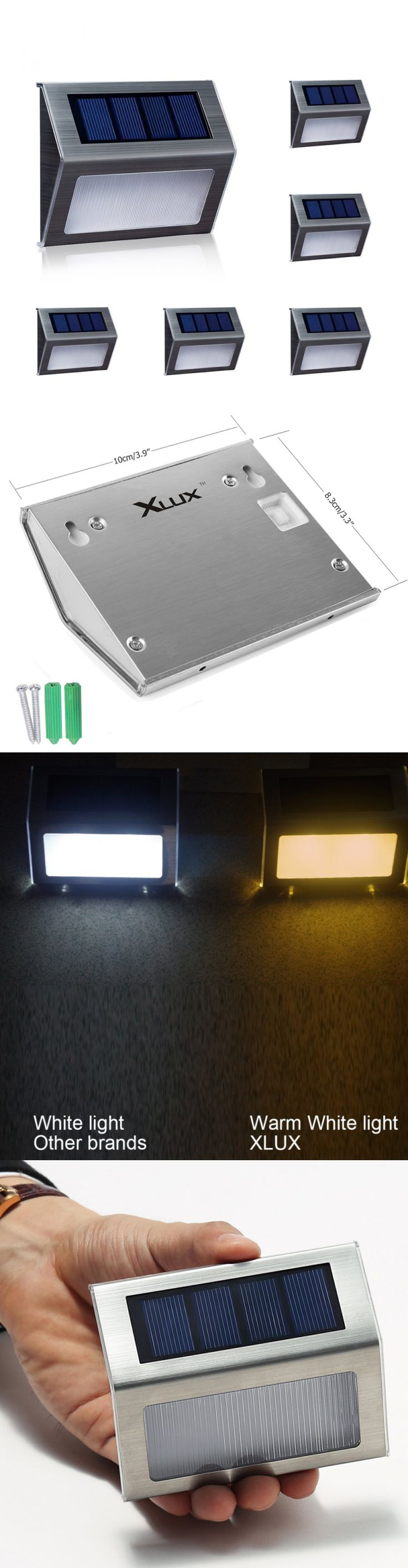 Solar power round recessed deck dock pathway garden led light ebay - Landscape And Walkway Lights 94940 Solar Lights For Steps Pathway Yard Stairs Led Lamp