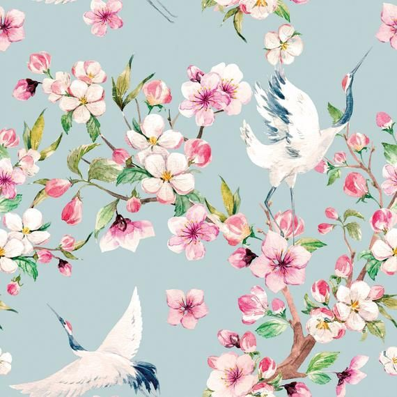 Removable Peel And Stick Wallpaper Japanese Block Print Sakura Etsy Japanese Block Print Peel And Stick Wallpaper Vinyl Wallpaper