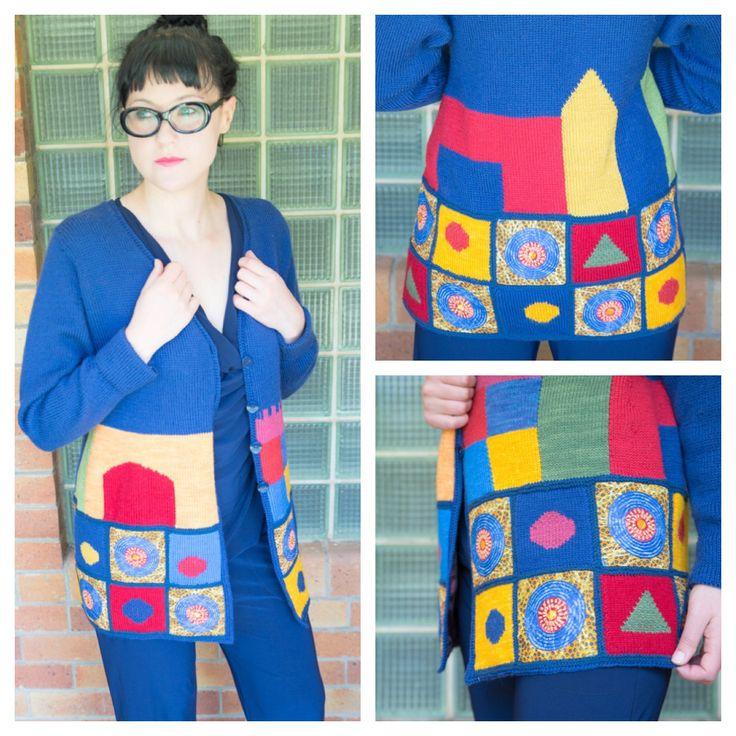 Taking yarn for a walk caroliensaayman.wordpress.com #wearableart #knittersofinstagram #knittersoftheworld #knittinglove #knitting #knittingdesign #caroliensaayman # paulklee