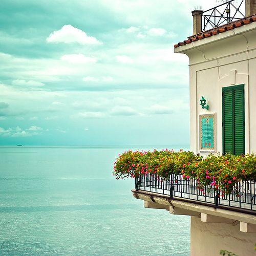 Italy / Amalfi / Summer / Sea / Flowers   by ►CubaGallery
