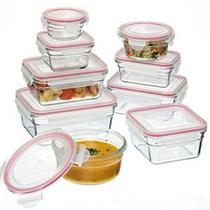 In love with glass for all my kitchen and cooking needs.  Oven safe Glasslock glass containers.  Prepare, cook, serve, refridgerate or freeze - all in the same glass container with BPA free plastic snap lock lids.  Found at Biome eco stores http://www.biome.com.au/639-glass-containers