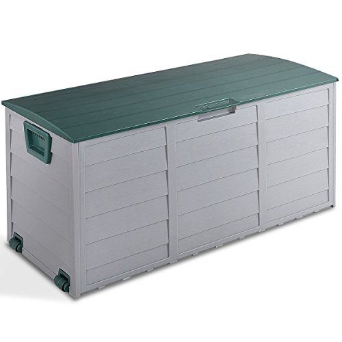 Md Group Outdoor Box Plastic Storage Waterproof Container Bench Case 70 Gallon Durable Lockable Lid