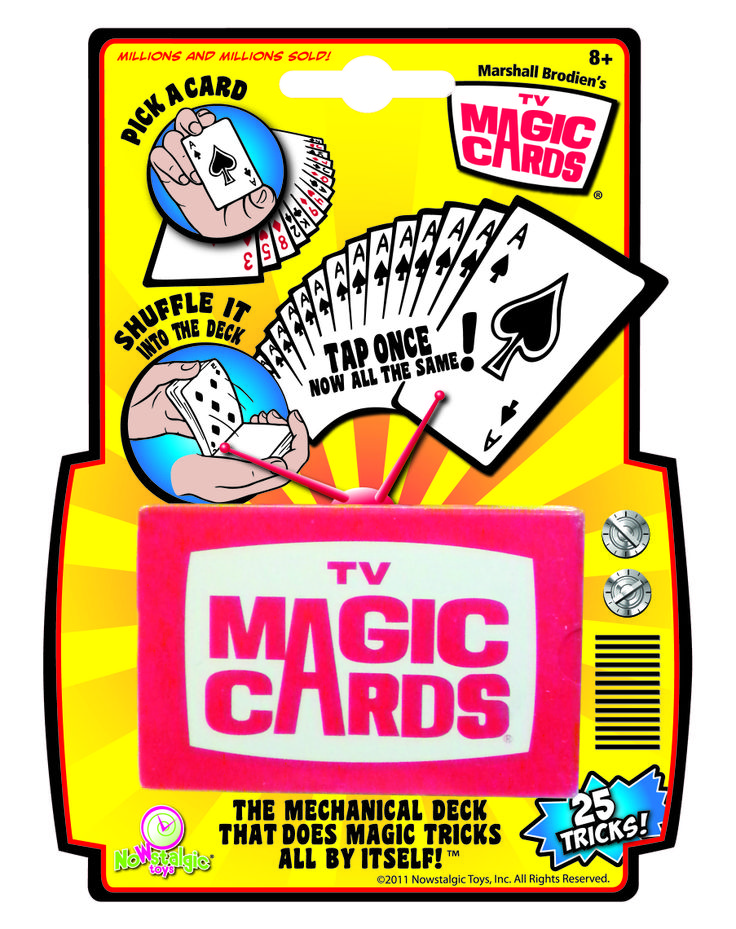 TV Magic Cards back from the 70's. From Nowstalgic Toys. #NowstalgicToys #marshallbrodien #magic #toys #70's #tbt
