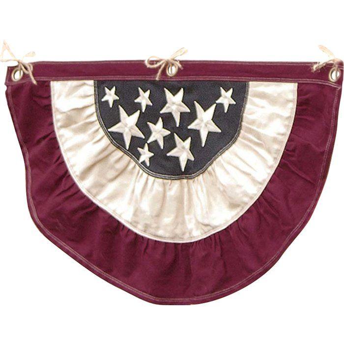 Half Round Cotton Duck Patriotic Vintage Bunting Pleated Flag Vintage Bunting Bunting Patriotic
