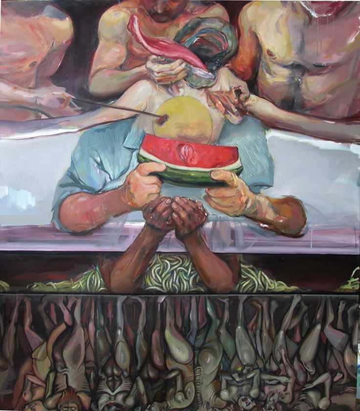 Monarhaic Project, oil on canvas, 120/100 cm.