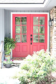 Woven Home: Hot Pink Front Door: Valspar Berry Blush