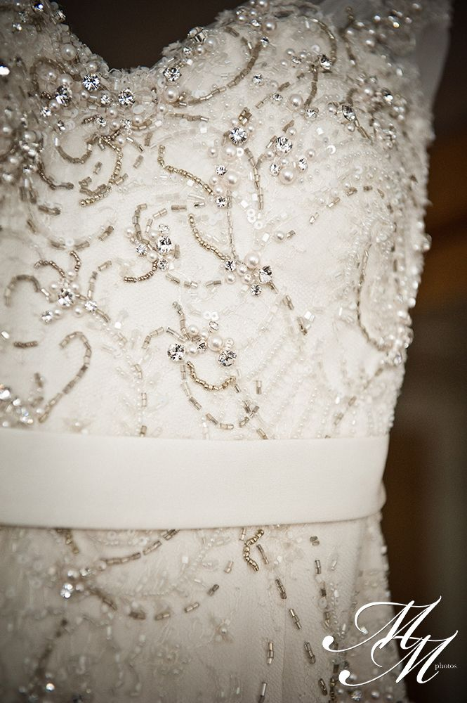 Beautiful Wedding Dress Detail  Sally & Dave