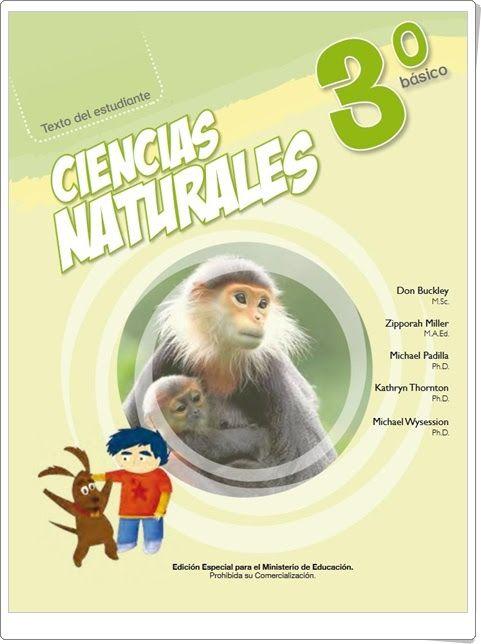 Libro de Texto de Ciencias Naturales de 3º de Primaria (Editorial Pearson Chile)