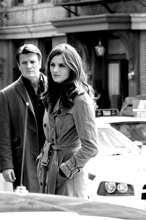 Stana Katic & Nathan Fillion as Beckett and Castle
