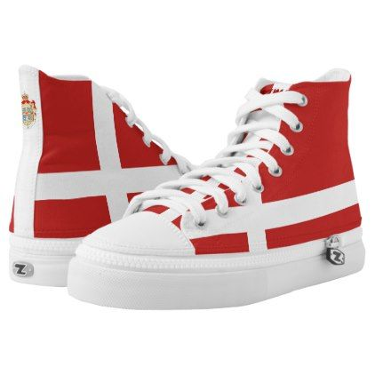 #Danish flag High-Top sneakers - #womens #shoes #womensshoes #custom #cool