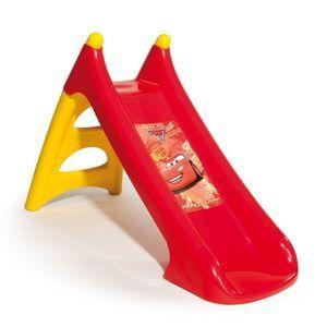 Toboggan Cars 2 Smoby - Rouge Idéal pour jouer dans le jardin! Longueur de glisse 90 cm. Echelle assurant une bonne stabilité. Système d'écoulement d'eau intégré à la glisse. Dimensions nettes (L x l x H) 126 x 50 x 75 cm. A partir de 2 ans. Le 17 avril 2013.