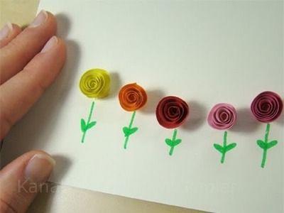 Karten  basteln. Geschenk basteln. Blumen basteln mit Papier