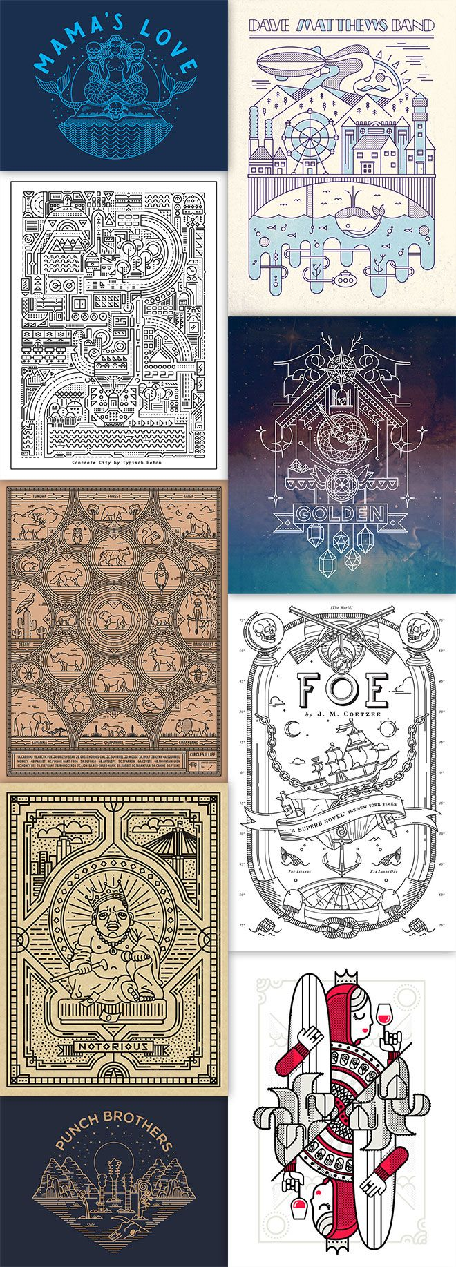 30 Vector Line Art Illustrations with Detailed Patterns & Geometric Shapes – creativeNdiy