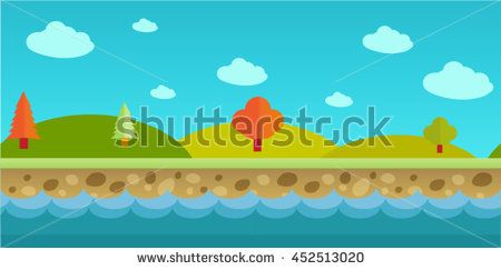 Parallax Platformer Game Asset Background - stock vector