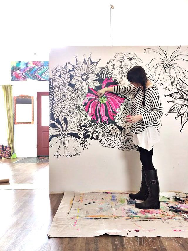 TIFF!! we could draw doodles on the canvas and paint them!! Go BIG- tips and trick for painting large