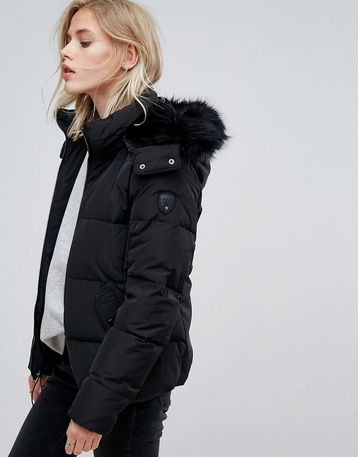 Only Real Down Padded Jacket - Black