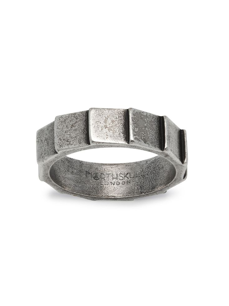 Layers Ring in Aged Silver