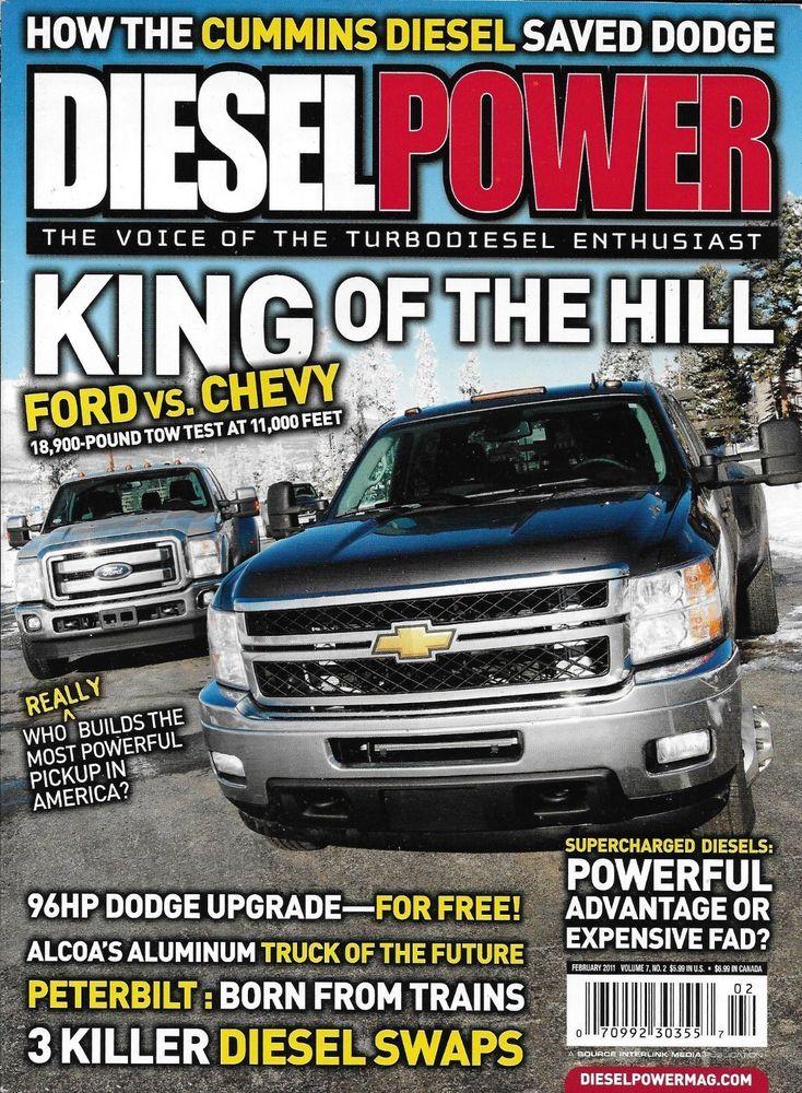 Diesel Power Truck Magazine Ford Vs Chevy Dodge Upgrade Alcoa