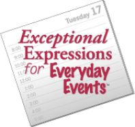 E4: Exceptional Expressions for Everyday Events » TextProject