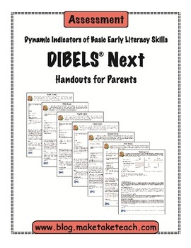 Communicate the results of benchmark assessments with parents using these DIBELS Next parent handouts.  Handouts include explanations