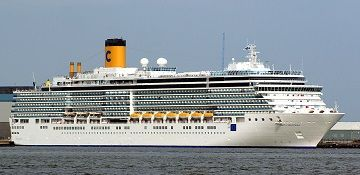 Costa Cruises cruise ship Costa Deliziosa. Track the cruise ship, live, in real time.