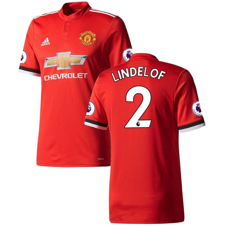 Victor Lindelof Manchester United adidas 2017/18 Home Authentic Patch Jersey - Red