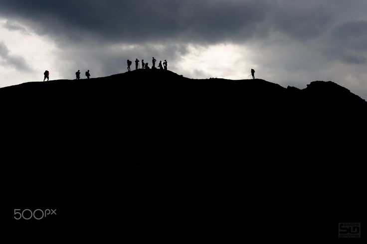 Silhouettes on the top - Silhouettes on the top Mount Etna