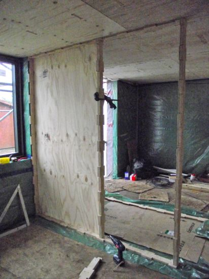 WikiHouseUK // 2015 // Midlands // First Wiki Farmhouse | The world's first Wikihouse home | Wet room panels