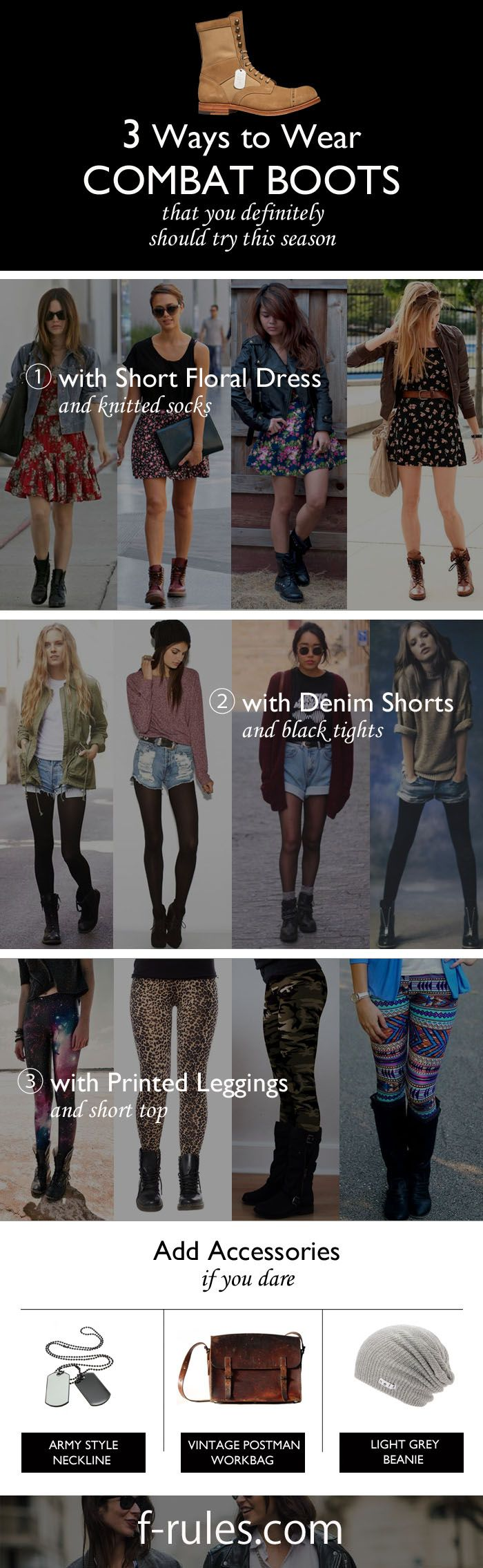 The cuttest outfit ideas with combat boots! Come along with us and check them out!