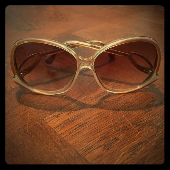 Vintage Givenchy 80's Sunglasses No prescription. Mild tarnish on left side arm (photographed). Givenchy Accessories Glasses