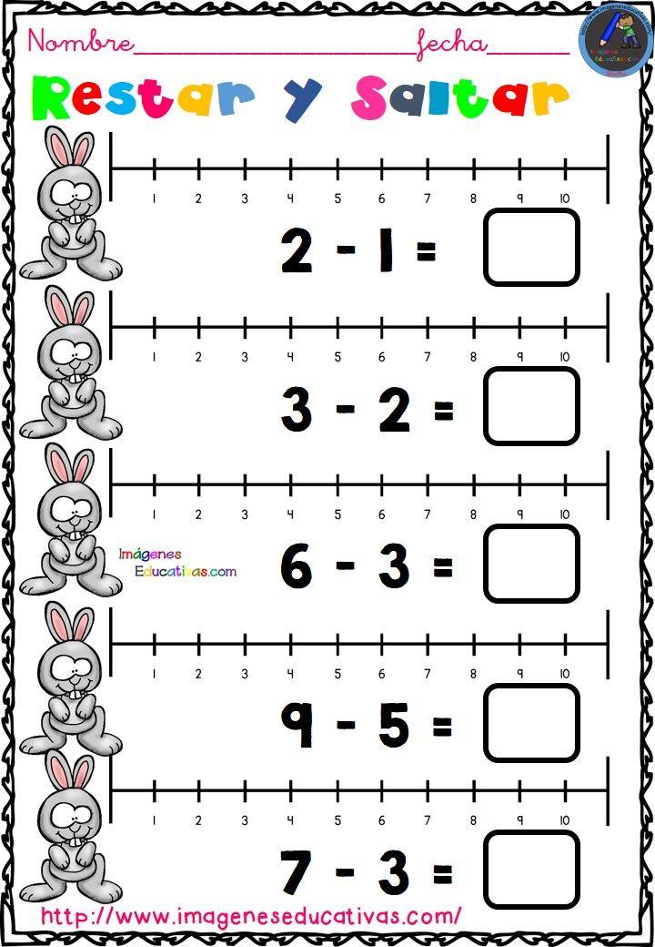 Restar y Saltar (1)   Fichas, Actividades de matematicas ...