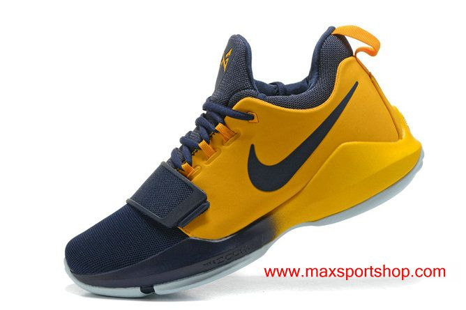 2017 Nike PG1 ID Dark-blue Gold PG'13 Basketball Shoes